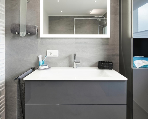 XXL-Fliesen im Badezimmer